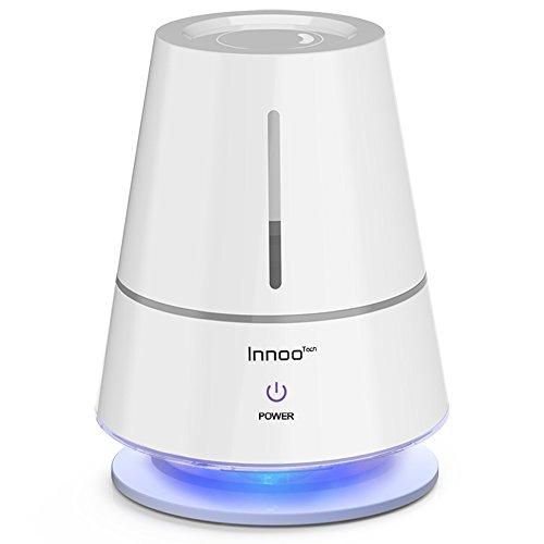 Innoo Tech 2,0L Humidificador Táctil Multifuncional Ultrasónico 20m²-30m² Lámpara de Mesa LED Indicador Humedecer y Purificar el Aire en Casa, Dormitorio, Baño, Yoga, Sauna y Oficina, etc.