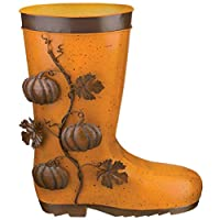 Regal Art & Gift 12049 Boot, Pumpkin Planter, Orange