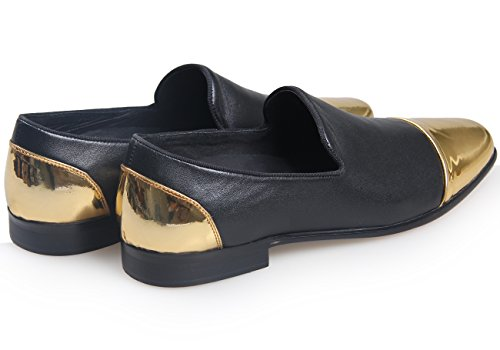 ELANROMAN , Mocassins homme Simple Black