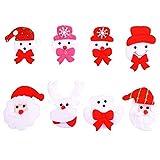 HUVE 8 Stücke Weihnachten Brosche Licht Blinkt Set Für Kinder Geschenk,Weihnachtsschmuck Ornamente Geschenke, Stil Lieferung Zufällig