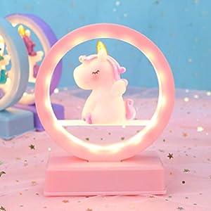 unicornio mesa luz dormitorio decoración