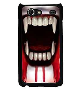 PrintVisa Designer Back Case Cover for Samsung Galaxy S Advance i9070 (Horror Ghost Horror Images teeth with Blood)
