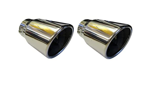"Hyundai ix20 4.75/"" 120MM ROUND EXIT EXHAUST TIP TAIL PIPE STAINLESS SCREW ON"
