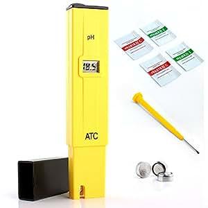 Neuftech Digitale PH Meter Tester Misuratore con LCD Monitorare per acquario piscine ecc