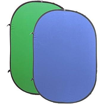 """Falthintergrund Hintergrund """"Life of Photo"""" Blue & Green Screen für Chromakey Effekte 100% Baumwolle 150x200cm"""