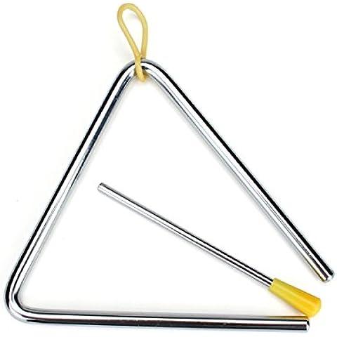 Il bambino scherza Bambini 6 strumento educativo dello strumento giocattolo Banda Musicale Inch Triangolo