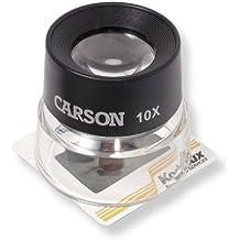 Carson 10x LumiLoupe eléctrico en modo Lupa
