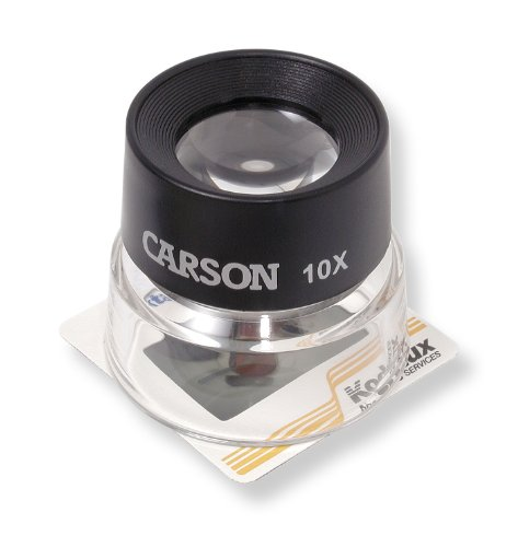 Carson Optical Lumiloupe 10X Power Magnifier