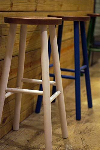 SED Stuhl - Hoher hölzerner Schemel, der Schemel speist Dekorative Stab-Stuhl-Farbe Stuhl-Stab-Stuhl-Restaurant Einfacher Retro- Nostalgie-Erwachsen-Haupthocker,Blau