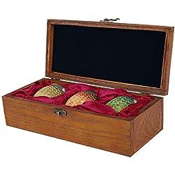 Juego de Tronos 3 tazas de huevo de dragón en un conjunto de joyas caja de 27,7x12,3x7,2cm
