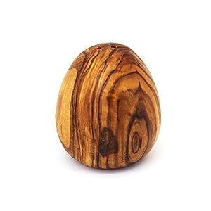 Salzstreuer Ei Form aus Holz | Handarbeit | Salzstreuer aus Olivenholz