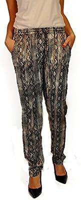 Hope1967 - Pantalón de Mujer Napoleón paisley gris
