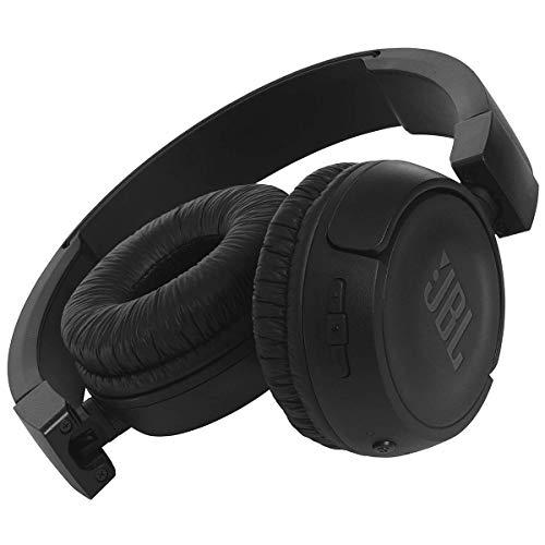 JBL T450BT Cuffie Sovraurali Bluetooth Cuffie On Ear Wireless con Microfono e Comandi su Padiglione JBL Pure Bass Sound, Leggere e Pieghevoli, da Viaggio, fino a 11 h di Autonomia, Nero - 3