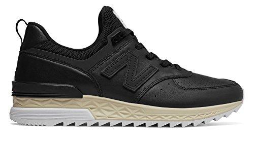 New Balance 574S, Zapatillas para Hombre, Negro (Black/White FCB), 44 EU