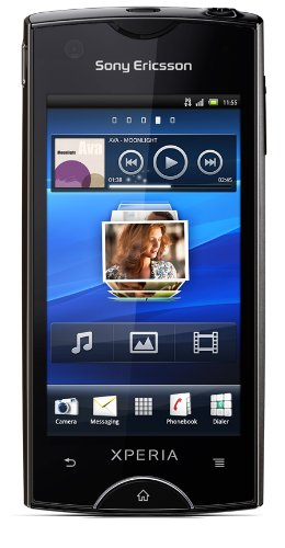 Sony Sony Ericsson Xperia ray Smartphone (8,4 cm (3,3 Zoll) Display, Touchscreen, 8 MP Kamera, Android 2.3 OS) schwarz
