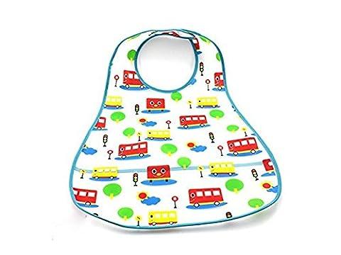 ofye en plastique Bavoir imperméable pour bébé infantile 0–6ans care-little Bus d'alimentation (couleur aléatoire)