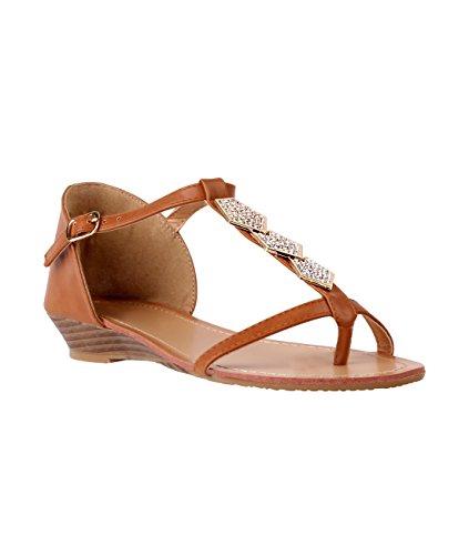 KRISP - Strap alla caviglia donna Tan