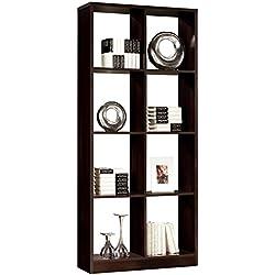Estanteria – libreria para despacho salon comedor u oficina 8 huecos, 81x180, color wengue