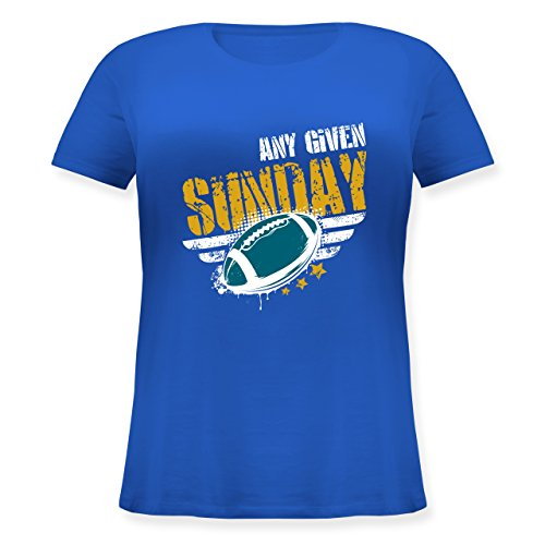 American Football - any Given Sunday Football Jacksonville - Lockeres Damen-Shirt in Großen Größen mit Rundhalsausschnitt Blau