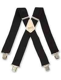 "Brimarc Mens Heavy Duty Black Braces Trouser Belt Suspender 2"" 50mm Wide"