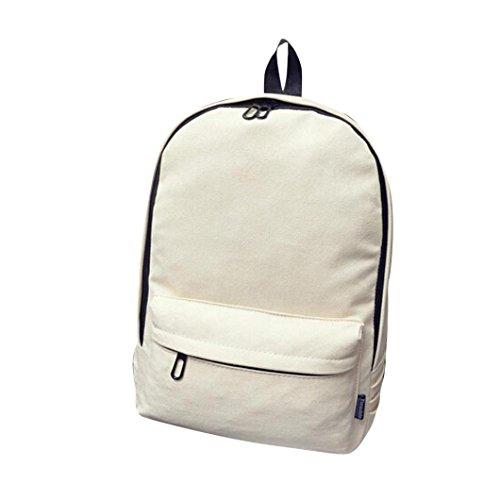 Saingace® filles garçons toile sac à dos sac d'école de Voyage cartable (Bleu Ciel) Beige