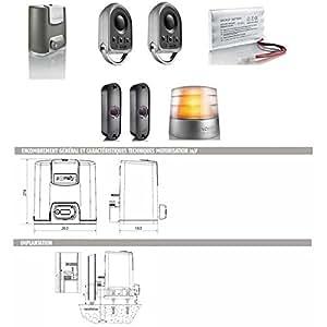 SOMFY - Automatisme Motorisation portail coulissant ELIXO 500 3S 24V pack confort io Som - 1216365