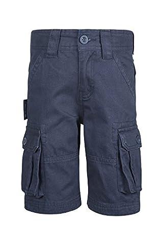 Mountain Warehouse Short Enfant Garçon Ado Bermuda 100% Coton Style Cargo Bleu marine 3-4 ANS