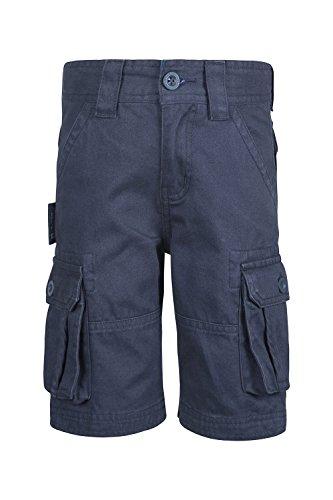 Mountain Warehouse Kinder Cargo Hose mit Taschen 100% Baumwolle Shorts kurze Hose sportlich Freizeit Unisex Jungen Mädchen leicht atmungsaktiv sportlich Freizeit Marineblau 98 (2-3 Jahre) (Shorts Jungen Sportliche)