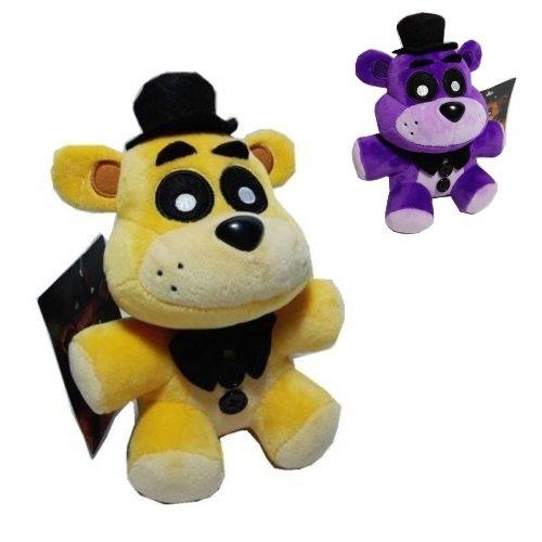 fnaf Plüsch Freddy Fünf Nächte bei Freddy 17,8cm 810zum Sammeln exklusiven Funko Stil Golden oder violett (Fnaf Spielzeug Plüsch)