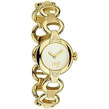 D&G Dolce&Gabbana DW0343 - Reloj analógico de mujer de cuarzo con correa de acero inoxidable dorada