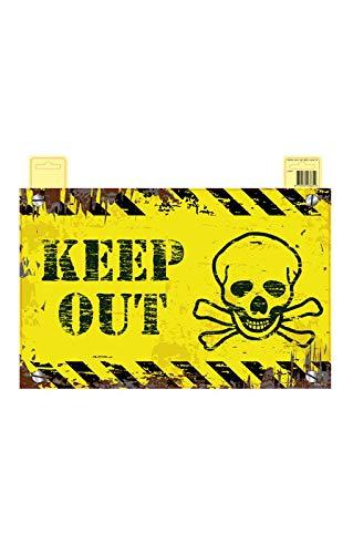 Horror-Shop Keep Out Hinweis Schild