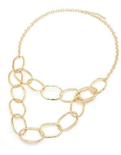 Musthaves Damen Gliederkette - Länge einstellbar 77-85 cm (Gold) -
