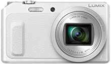 Panasonic Lumix DMC-TZ57EG-W Fotocamera, Sensore MOS 16MP, Zoom Ottico 20x, Video Full HD, Wink Detector, Wi-Fi Certified, Bianco