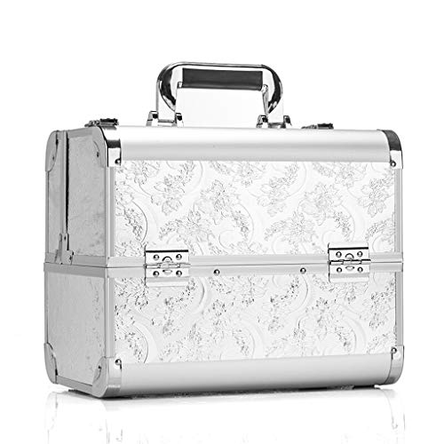 Portable Multi-couche Cosmetic Case Extra Large Space Storage Boîte de Beauté Make Up Nail Bijoux Cosmétique Vanity Case Blanc