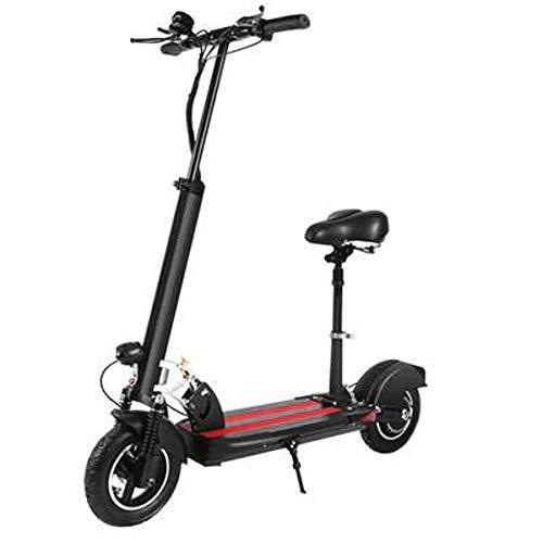 JH Elektro-Scooter, 10 Inchesadults Elektroroller mit Klappsitz Hoverboard Elektro-Fat Tire Tretroller E-Roller Elektroroller,36V350W