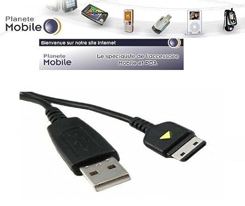 PlaneteMobile -Cable Usb Data Charge Pour samsung GT-B2100 Solid / GT-B2700 Solid / GT-B3410 / GT-B5722 / GT-C3050 / GT-C3060 / GT-C3510 Player Light / GT-C5130 / GT-C6625 / GT-E1080 / GT-E1107 Crest