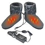 ObboMed MF-2320L 12V 20W wärmende Heizschuhe mti Karbon Heizelementen, mit weicher Sohle, L: bis Schuhgröße 45.5, wärmende Hausschuhe, Infrarot Schuhe, Wärmepolster, Fußwärmer, Aufwärmung Kalter Füße