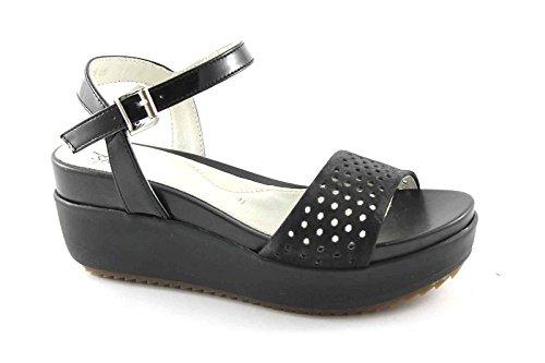 STONEFLY SKIN 106594 storm scarpe donna sandali zeppa pelle camoscio cinturino 38