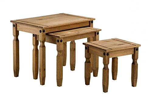 Corona Nest of Tables, Mexican Solid Pine