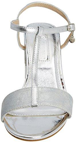 Sandalen T 30681 Spangen Platinium Damen XTI Silber wIq4xTnS