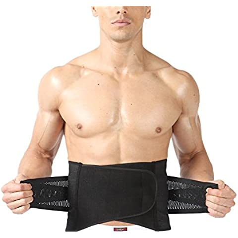 TININNA Transpirable Elástica Reductora Ajustable Faja ,Reductora con Velcro Efecto Adelgazante Faja Moldeadora la Cintura Soporte para mantener la espalda recta y reducir el dolor