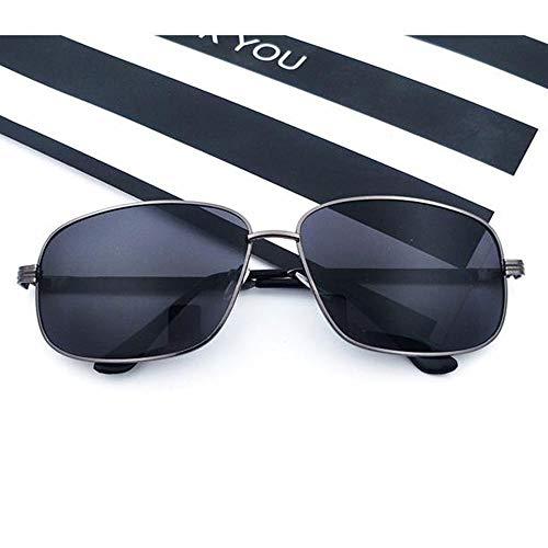 Szblk Metall-Sonnenbrille Polarisierte Sonnenbrille Sport-Sonnenbrille Outdoor-Sonnenbrille Blumensonnenbrille Klassische Persönlichkeit Quadratische Brille (Color : Black)