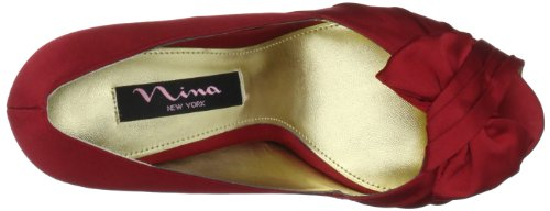 Nina Bridal  Forbes Azul Special Occasion Neob FORBES01, Sandales femmes Rouge-TR-I2-22