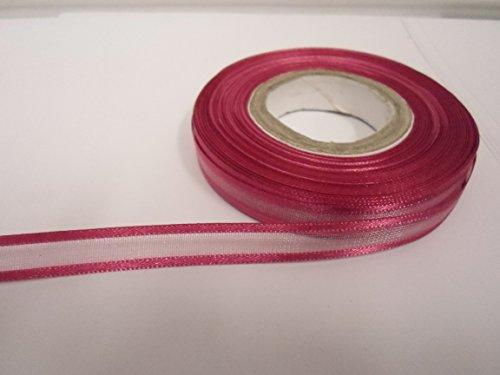 2Meter x 10mm eingefasst Organzaband dusky pink doppelseitig Satin Edge 10mm Dusky Pink Satin