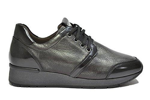Melluso Sneakers zeppa nero scarpe donna R0044 39