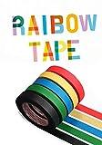 Rouleaux de ruban de masquage, 5 rouleaux 5mm x 50m couleurs unies ruban adhésif Washi, papier collant arc-en-ciel décoratif, étiquettes de rubans de bricolage Scrapbooking 5PCS