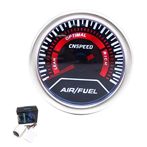 Monllack 2 In 1 Auto Auto LED Digital Luft/Kraftstoff Verhältnis Anzeige Öl Meter 52mm Rauch Objektiv Universal Car Racing Änderung Reparatur -
