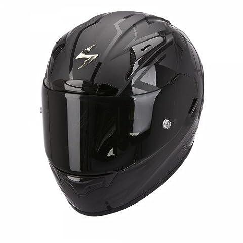 Scorpion Casque de Moto EXO-2000 EVO AIR TRACK, Noir, Taille M
