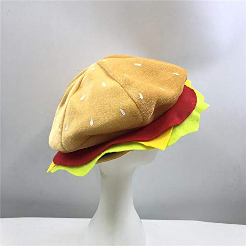 dream-cool Cheeseburger Hat Headwear - Burger Essen Hut Halloween Weihnachten Kostüm Party Dress Up Requisiten Hut für Kinder Erwachsene