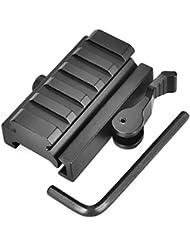 OTraki Keymod Rail de 5 Ranuras duradera de Aluminio reforzado Picatinny Weaver estándar de 20 mm Rieles Adaptador de carril táctico